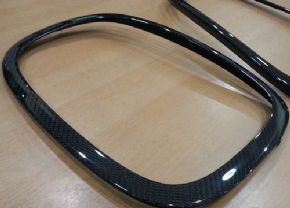 Rear light rings - carbon fibre - 3rd gen